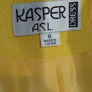 Kasper Dresses - 80s Beautiful Vintage Yellow Dress